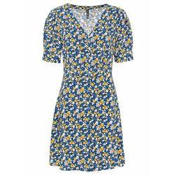 Sukienka szyfonowa z założeniem kopertowym bonprix jasnoróżowy