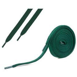 Sznurówki płaskie do butów 7 mm - zielone - Zielony