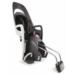 Fotelik rowerowy na ramę HAMAX Caress szaro-biały czarna wyściółka do ramy (7029775530010)