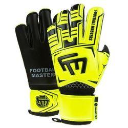 Rękawice bramkarskie Football masters training fluo black aqua mixcut fr