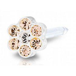 Blomdahl daisy golden rose / crystal 5 mm