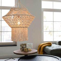 Wiejska lampa wisząca makrama 90 cm - sznurek