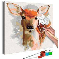 Obraz do samodzielnego malowania - uroczy jelonek