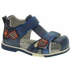 Zabudowane sandały dla dzieci Wojtyłko 40421 Blue (5908243008683)