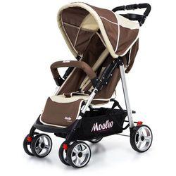 Wózek spacerówka deluxe 4 b brązowo-beżowy marki Moolino