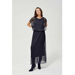 Długa zwiewna elegancka sukienka 8k40in marki Moodo