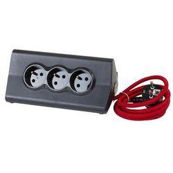Przedłużacz biurkowy 16 A 230V + 2 x USB 2.4 A Z UCHWYTEM NA TABLET CZARNO-CZERWONY LEGRAND