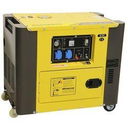 Generator prądowy 230 v, 6 kva, diesel wyciszony marki Valkenpower