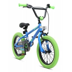 """Rower dla dzieci BMX 16"""" BIKE STAR GERMANY niebiesko zielony"""
