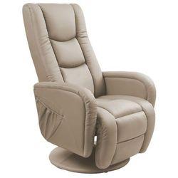 Obrotowy fotel wypoczynkowy masujący Litos - cappuccino