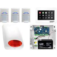 Zestawy alarmowe, Zestaw alarmowy Ropam OptimaGSM 3 x Czujka Bosch Manipulator dotykowy TPR-4WS GSM