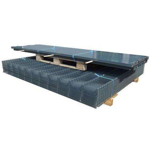 Przęsła i elementy ogrodzenia, vidaXL Panele ogrodzeniowe 2D z słupkami 2008x1030 mm 16 m Szare