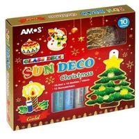 Farbki, Farby witrażowe 10 kolorów+ witraże christmas AMOS