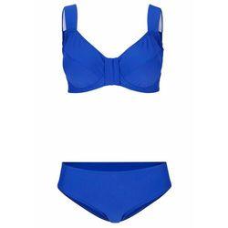 Bikini minimizer na fiszbinach (2 części) bonprix niebieski