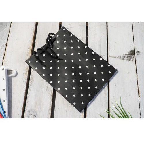 Opakowania prezentowe, Torba prezentowa czarna 24x8,5 cm