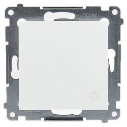 """Kontakt Simon 54 Premium Przycisk """"światło"""" (moduł) 10AX 250V, szybkozłącza, biały DS1.01/11"""