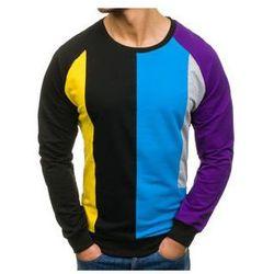 Bluza męska bez nadruku czarna Denley 0751