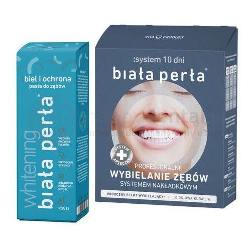 Środki do wybielania zębów, Zestaw wybielający BIAŁA PERŁA 10 DNI System Wybielający 10 DNI + pasta wybielająca 75ml