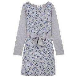 Sukienka + legginsy 3/4 (2 części) bonprix fiołkowy lila z nadrukiem