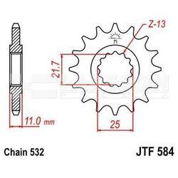 Zębatka przednia jt f584-17, 17z, rozmiar 532 2200024 yamaha fzr 1000, yzf-r6 600