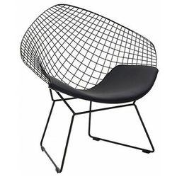 Metalowy fotel druciany wypoczynkowy - Krato