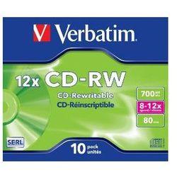 Verbatim CD-RW [ jewel case 10 | 700MB | 12x ] 43148 - odbiór w 2000 punktach - Salony, Paczkomaty, Stacje Orlen