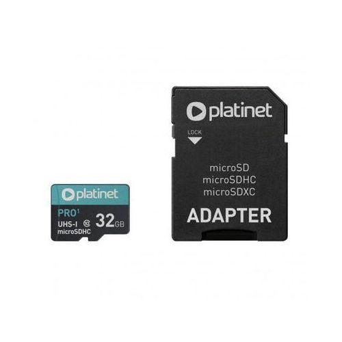 Karty pamięci, PLATINET microSDHC + ADAPTER SD 32GB class10 UI PMMSD32UI