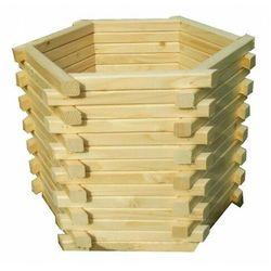 Drewniana sześciokątna donica ogrodowa 15 kolorów - Vincento