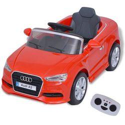 vidaXL Elektryczny samochód dla dzieci z pilotem Audi A3 czerwone Darmowa wysyłka i zwroty