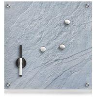 Tablice szkolne, Szklana tablica magnetyczna MEMO, ciemno szary + 3 magnesy, 40x40 cm, ZELLER