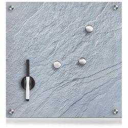 Szklana tablica magnetyczna MEMO, ciemno szary + 3 magnesy, 40x40 cm, ZELLER