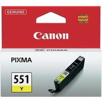 Tusze do drukarek, Canon oryginalny ink CLI551Y, yellow, 7ml, 6511B001, Canon PIXMA iP7250, MG5450, MG6350, MG7550