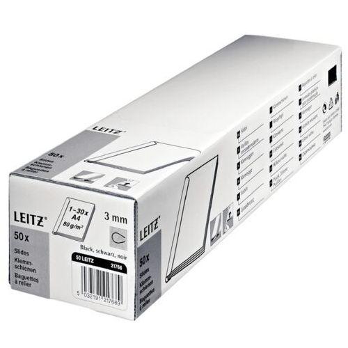 Grzbiety do bindownic, Grzbiet wsuwany Leitz A4/3mm/50szt 21768 czarny