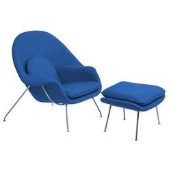Fotel z podnóżkiem Snug niebieski