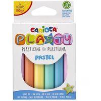 Plastelina, Plastelina 100g 6 kolorów pastelowa CARIOCA