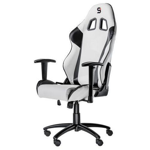 Fotele dla graczy, Fotel SPC Gear SR300 WHITE (Biały, skóra ekologiczna)