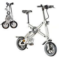 """Rowery elektryczne, Składany rower elektryczny Devron X3 12"""" - model 2017, Biały"""
