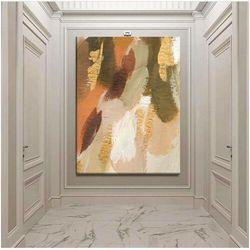MILD - obraz ręcznie malowany w pastelowych kolorach współczesne wzornictwo ścienne rabat 35%