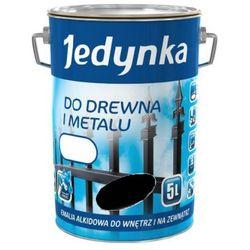 JEDYNKA DO DREWNA I METALU, połysk, czarna 5 l. (Farba)