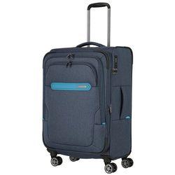 Travelite Madeira walizka średnia poszerzana 67 cm / granat - niebieski