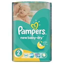Pampers Pieluchy New Baby Dry 2 Mini (68 szt.)