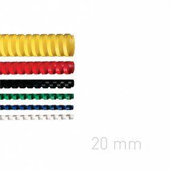 Grzbiety plastikowe O.COMB 20mm niebieskie 100szt./op. OPUS