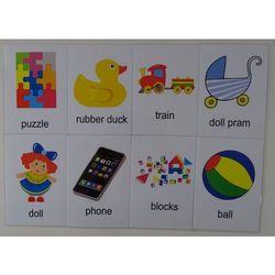 Zabawki karty edukacyjne wersja w j. angielskim