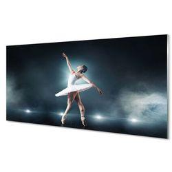 Obrazy na szkle Biała sukienka balet kobieta