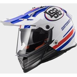 KASK LS2 MX436 PIONEER QUARTERBACK WHITE-RED-BLUE