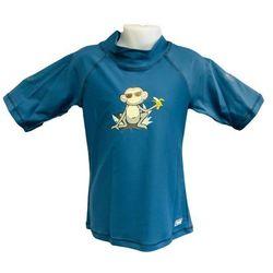 Koszulka kąpielowa bluzka dzieci 76cm filtrem UV50+ - Petrol Jungle \ 76cm