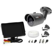 """Zestawy monitoringowe, Zestaw do monitoringu kamera LV-AL30HT tuba tubowa monitor 4,3"""" zasilacz przewód podgląd na monitorze"""