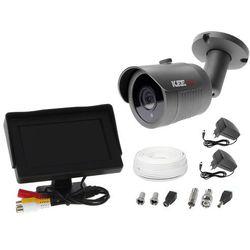 """Zestaw do monitoringu kamera LV-AL30HT tuba tubowa monitor 4,3"""" zasilacz przewód podgląd na monitorze"""