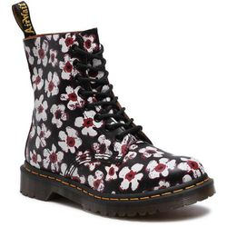 Glany DR. MARTENS - 1460 Pascal 26456002 Black/Red