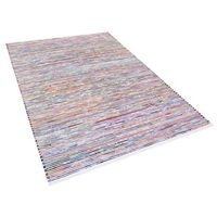 Dywany, Dywan - wielokolorowo-biały - 160x230 cm - bawełna - handmade - BARTIN